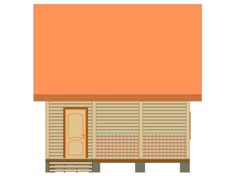 Брусовой дом №180 - Фото 3