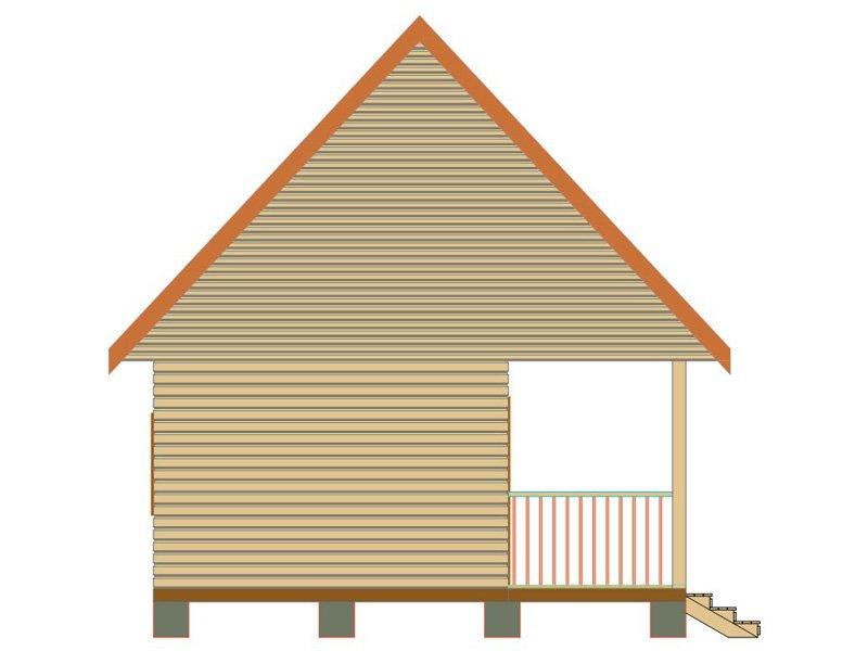 Брусовой дом №180 - Фото 4