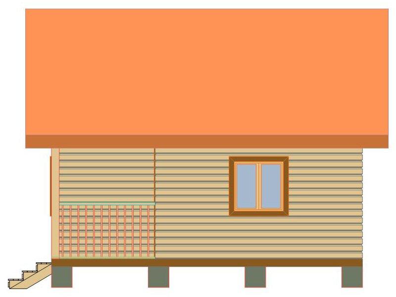 Брусовой дом №182 - Фото 2