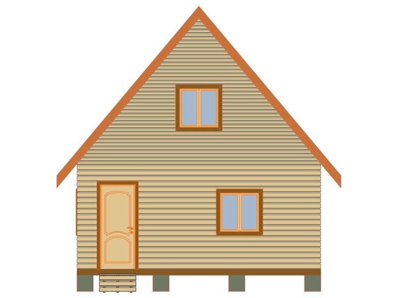 Брусовой дом №184 - Фото 2