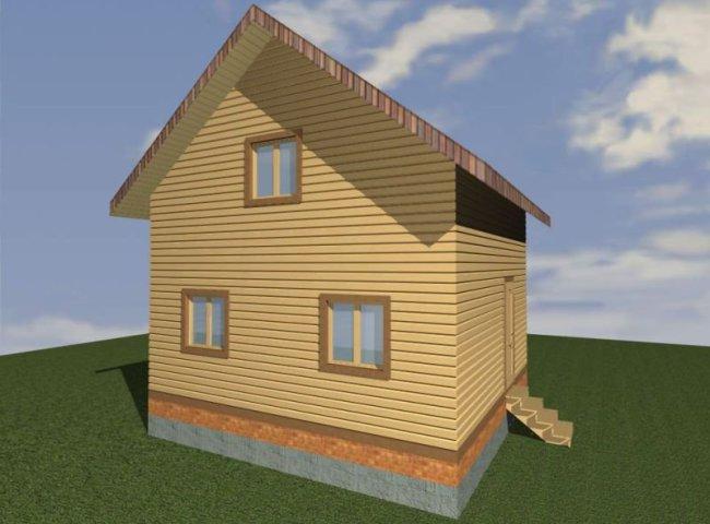 Дом из бруса №191