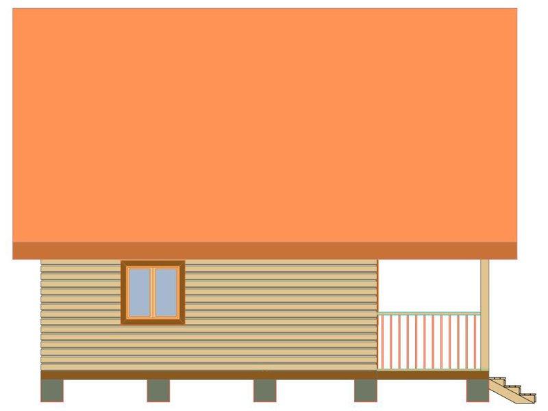 Брусовой дом №187 - Фото 3
