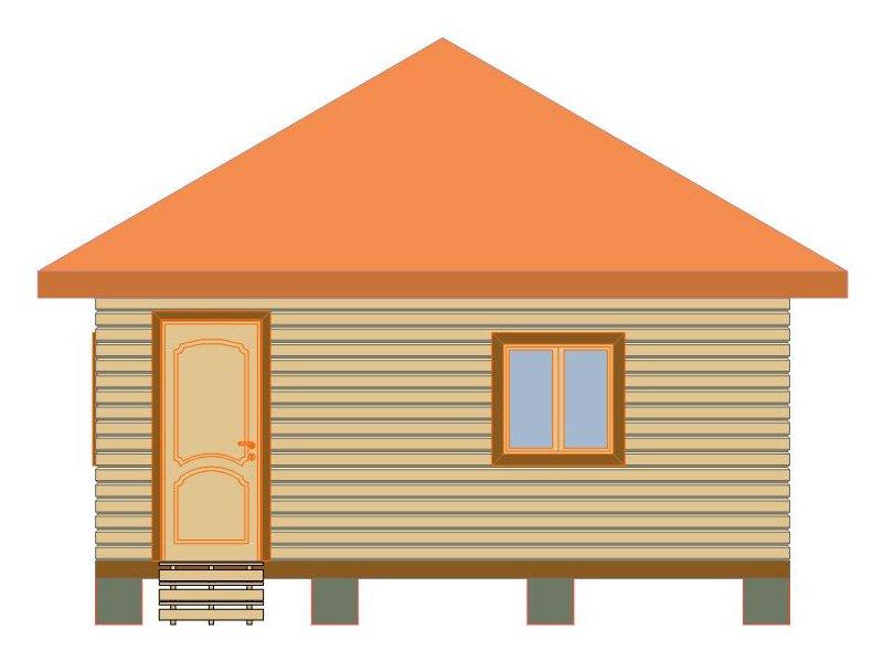 Брусовой дом №188 - Фото 2