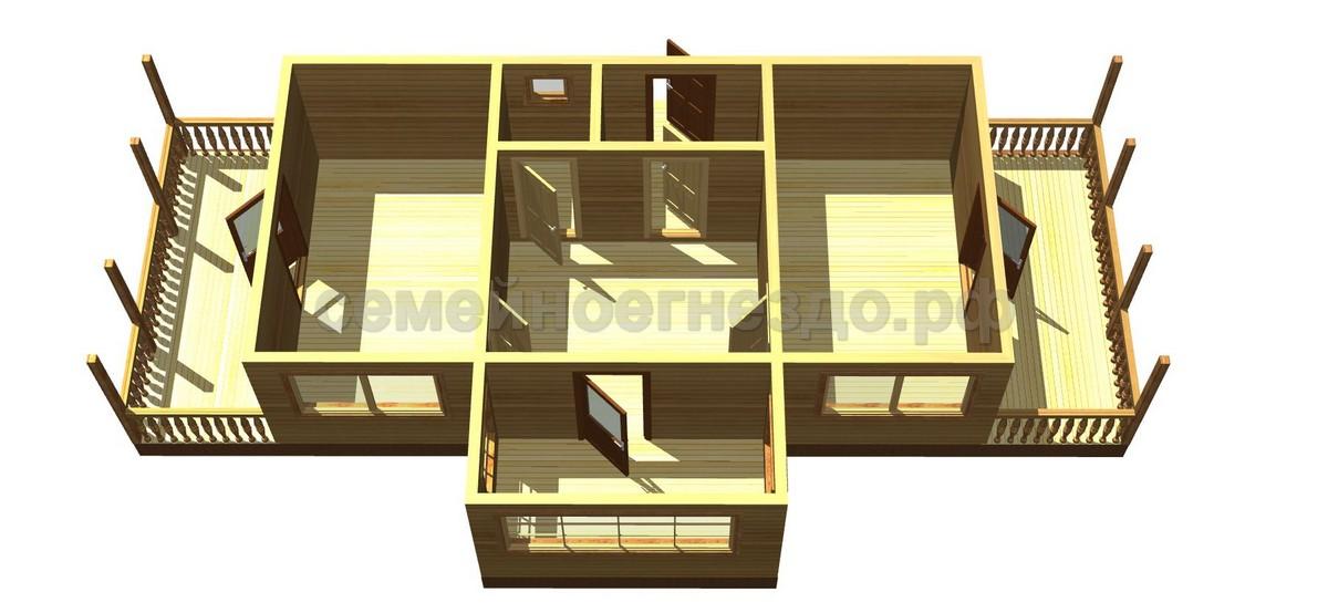 Брусовой дом №12 - Фото 2