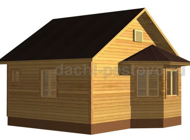 Каркасный дом №1
