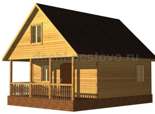 Каркасный дом №43