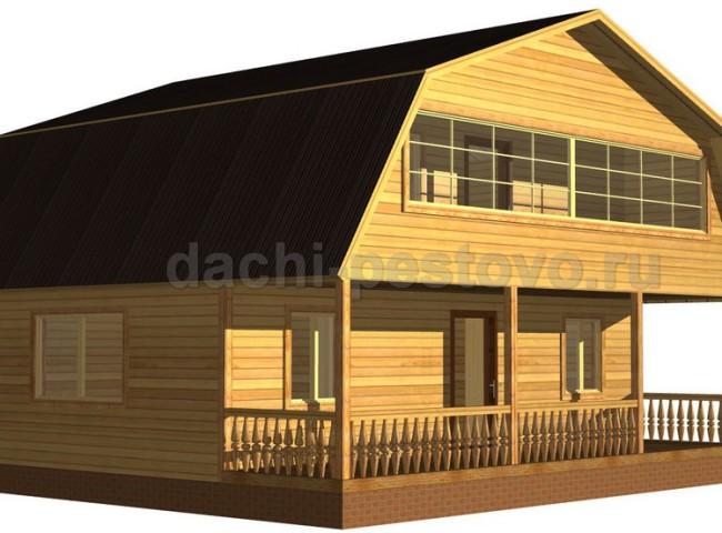 Каркасный дом №55