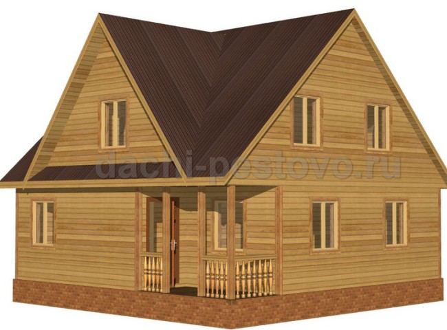 Брусовой дом №54