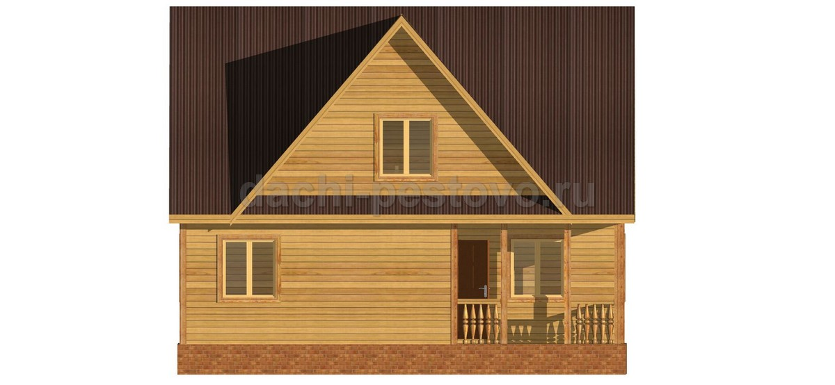 Брусовой дом №54 - Фото 2