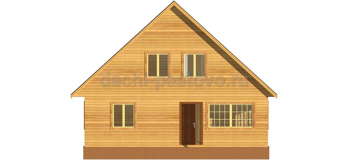 Брусовой дом №62 - Фото 2