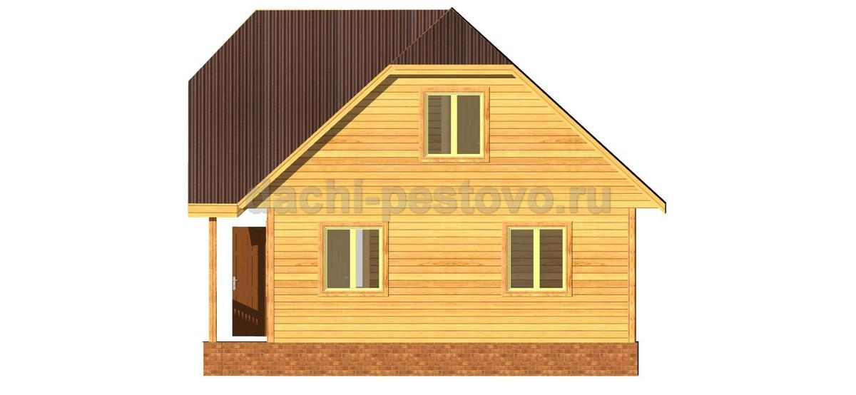 Брусовой дом №45 - Фото 3