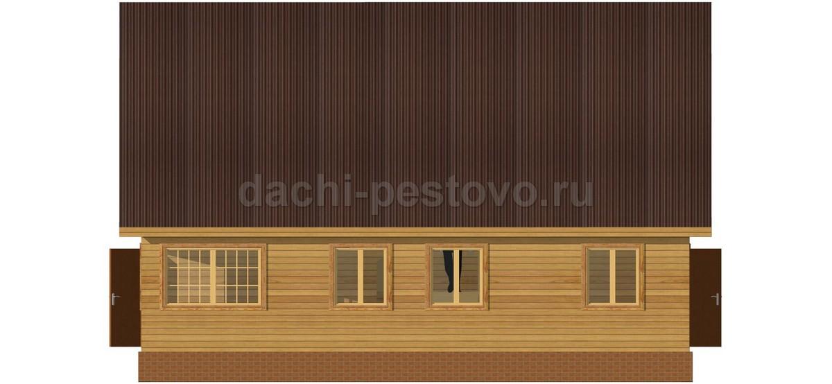 Брусовой дом №62 - Фото 3